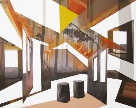 Anna Caruso - l'orizzonte degli eventi, acrilico su tela, 80x100 cm, 2014 - foto buona